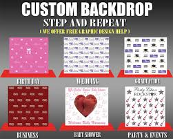 custom photo backdrop step and repeat with your custom logo backdropwedding