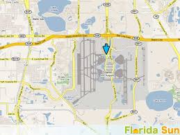 mco terminal map orlando international airport rental car map