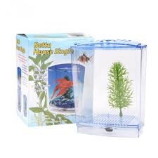 Acrylic Aquarium Single Betta Fish Bowl Fighting Fish Tank Small