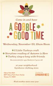 thanksgiving storytime flyer flyer design
