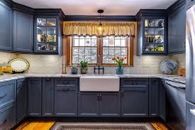 houzz blue kitchen cabinets colonial blue kitchen traditional kitchen bridgeport