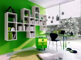green colored rooms office workspace home office color scheme idea with green