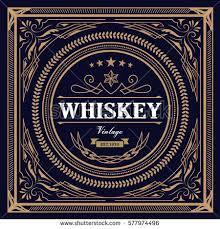 vintage design whiskey label vintage design retro vector stock vector 577974496