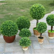 idyllic decorative potted plants artificial grass for
