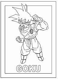 goku coloring sheets coloring