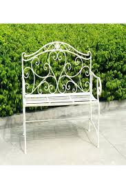 White Metal Outdoor Bench Metal Garden Bench Benches White Metal Butterfly Garden Bench