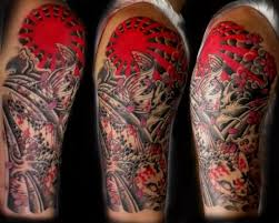 half sleeve japanese rising sun tattoos tattoobite com