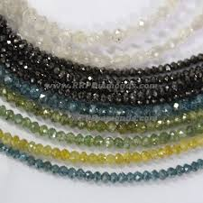 natural beads necklace images Buy online faceted mix color raw loose diamond beads fro sale jpg