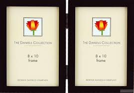 picture frames photo albums personalized and engraved digital the original daniels square corner gallery woods ebonyblack stain hinged double dennis danielsreg