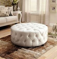 Tufted Round Ottoman Coffee Table by White Leather Ottoman 10 Best Ottoman Coffee Table Images On