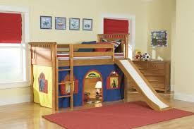 furniture amazing low loft bed with slide in espresso finish