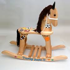 Rocking Horse High Chair Personalized Wooden Rocking Horses For Baby