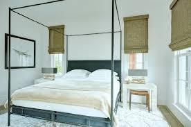 Black Canopy Bed Black Canopy Bed With Black Headboard Transitional Bedroom