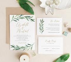 wedding invitation suites greenery wedding invitation template printable wedding