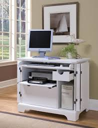 Computer Hutch Desk With Doors by Home Styles 5530 19 Naples White Compact Computer Desk