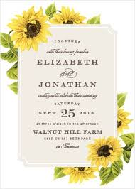 sunflower wedding invitations sunflower wedding invitations match your color style free