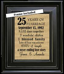 25 year anniversary gifts framed 25th wedding anniversary 25th anniversary gifts 25th