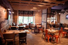 trendy restaurant interior design is at the junction of industrial