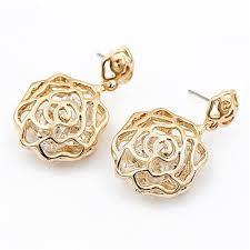 korean earings korean fashion golden hollow design earrings