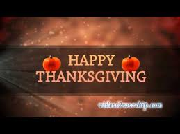 happy thanksgiving animated background