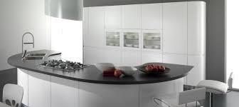contemporary kitchen laminate round lacquered seven
