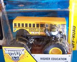 monster jam monster trucks amazon com higher education bus 19 wheels off road