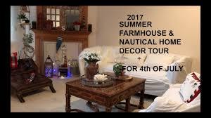 nautical home decor 2017 summer farmhouse nautical home tour youtube