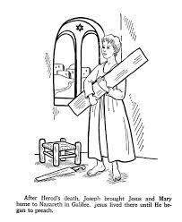 jesus youth st joseph u0027s carpenter shop catholic coloring