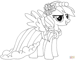 rainbow dash coloring free printable coloring pages