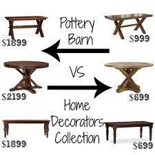 Home Decorators Table Look Alikes Showdown Dining Tables U2013 Pottery Barn Vs Home
