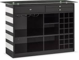 Bar Mirror With Shelves by Spectra Bar Black And Mirror Value City Furniture