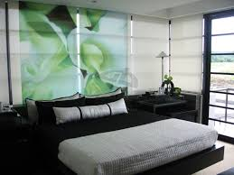 mint green bedroom decorating ideas black wooden framed kingsize