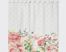 Country Bathroom Shower Curtains Dots Shower Curtain Etsy