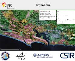 615 Area Code Map Using Satellite Images To Determine The Garden Route Burn Scar Csir