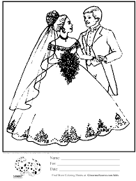bride and groom coloring page coloring page bride and groom ginormasource kids
