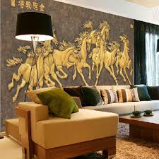 2016 new hot sale art can be customized large mural 3d wallpaper 2016 new hot sale art can be customized large mural 3d wallpaper wall paper bedroom living room tv backdrop classic golden horse running wall paper large