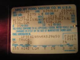 ford f150 transmission identification codes 1989 ford f150 4x4 parts truck