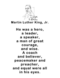 first grade bloomabilities martin luther king day free poems