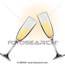 disegni bicchieri clipart illustrazione di bicchieri chagne k1565945 cerca