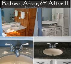 Painted Vanities Bathrooms Kammy U0027s Korner Painting A Porcelain Vanity Countertop With Diy