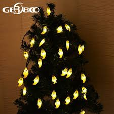 halloween ghost string lights outdoor halloween holiday decorations waterproof ghost solar string