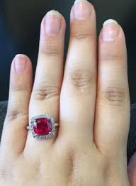 zales black friday 2017 cushion cut lab created ruby and white sapphire ring in 10k white