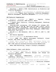 Supply Chain Management Skills For Resume Sudhakar Resume 3 Technical N Functional Project Lead