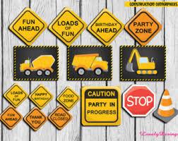 Construction Party Centerpieces by Dump Truck Decor Etsy