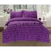 Purple Ruffle Comforter Best Linen Comforter Sets Walmart Com