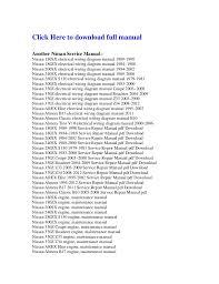 nissan almera 1995 2012 service repair manual pdf download