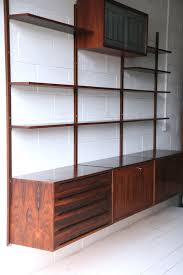 vintage on the shelf vintage rosewood shelving unit and chrome