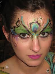 peacock face painting designs re painting adults facepaint