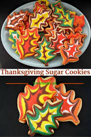 decorated thanksgiving sugar cookies recept maandagen