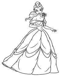 charming inspiration belle coloring colouring pages free